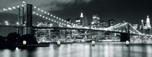 Eurographics Glasbilder Garderobe 30x80cm (Brooklyn Bridge Night G-DC6170)